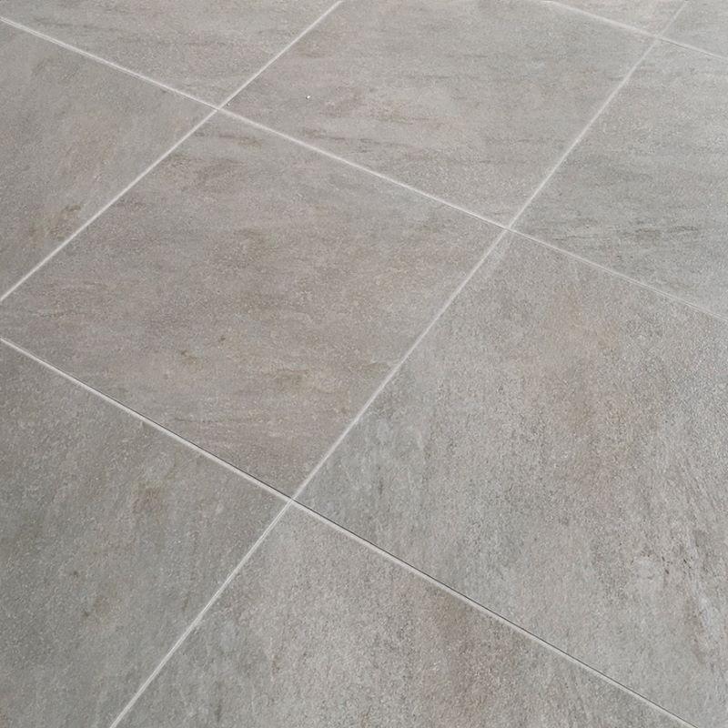 Dallage Extérieur Céramique Gris Clair Ardesia White 60x60cm - Capri