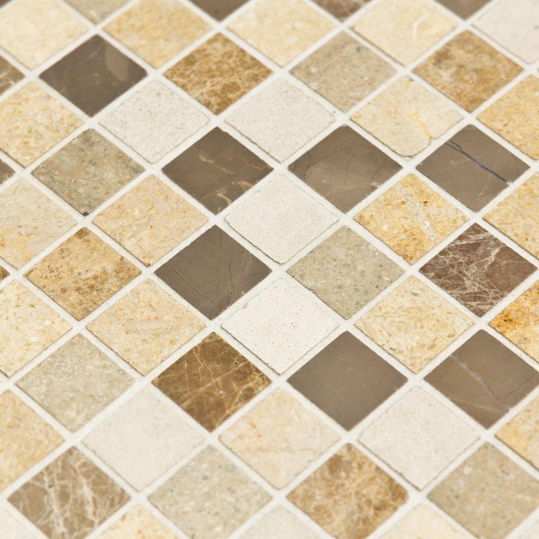 Faience Cuisine Beige Et Marron mosaïque pierre naturelle beige brune chiara - capri