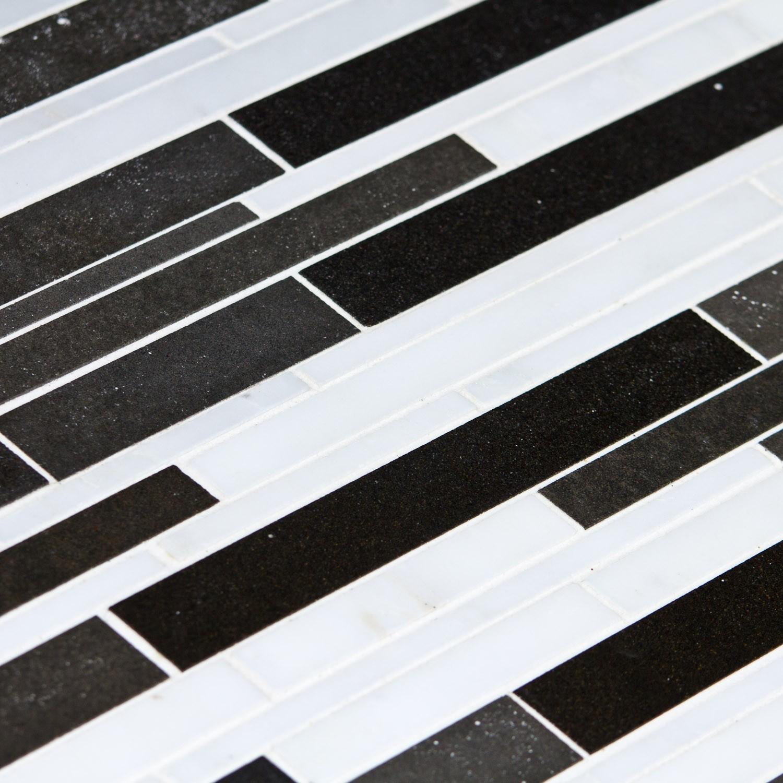 Mosaique Pierre Naturelle Noire Et Blanche Cityline Capri