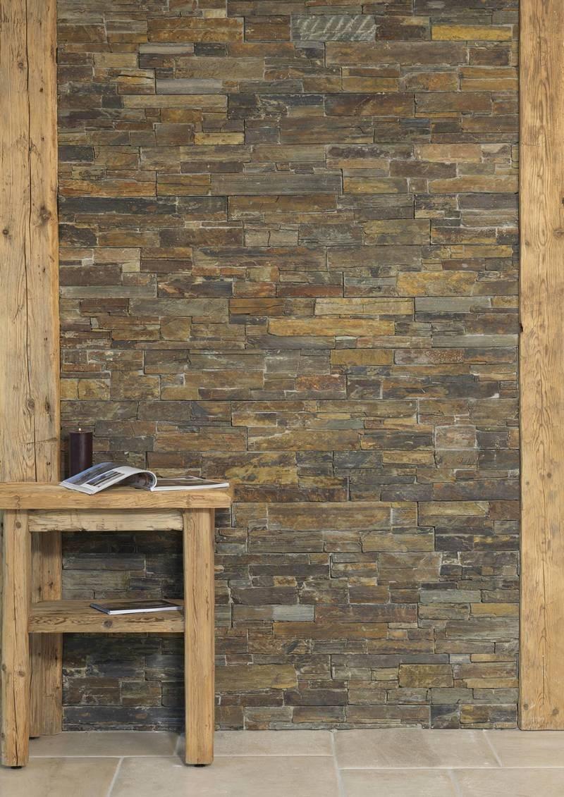 Mur Parement Interieur Ardoise parement brun pierre naturelle verbania rustica - capri
