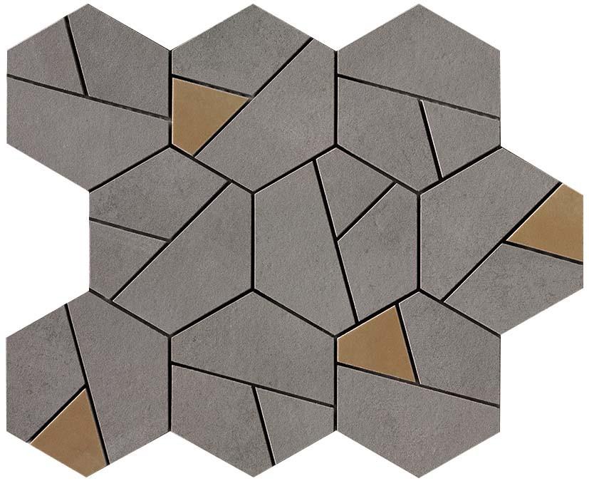 Mosaïque Antlia Dark Grey Hexagonale Y Céramique