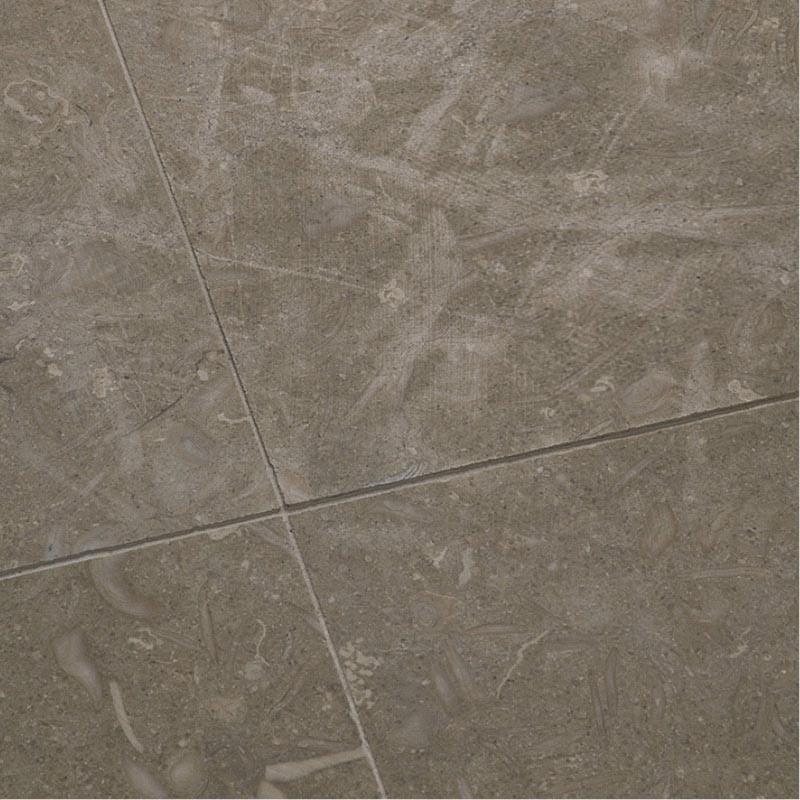 Dallage calcaire brun