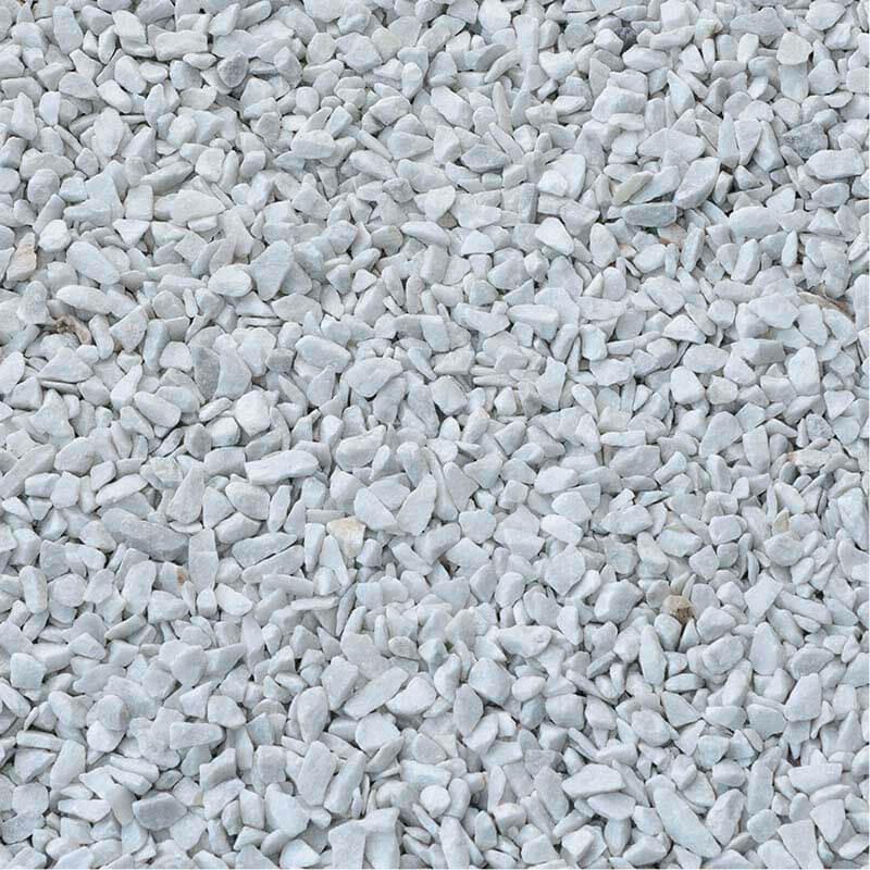 Gravier blanc pierre naturelle marbre