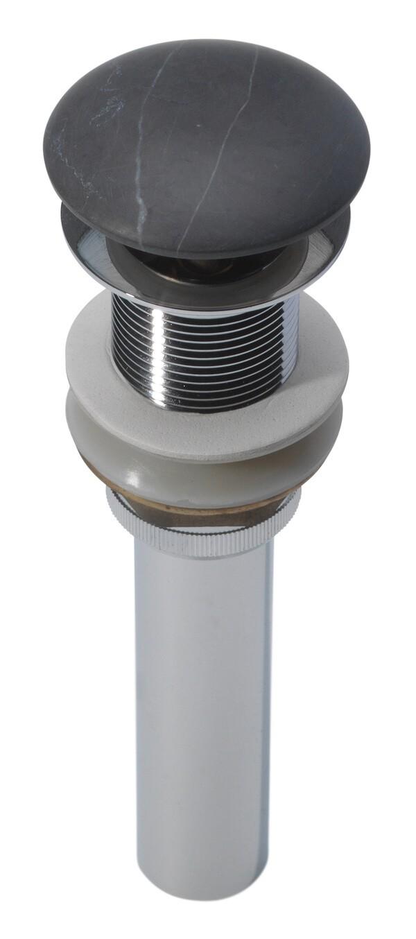 Bonde marbre gris pour vasque à poser