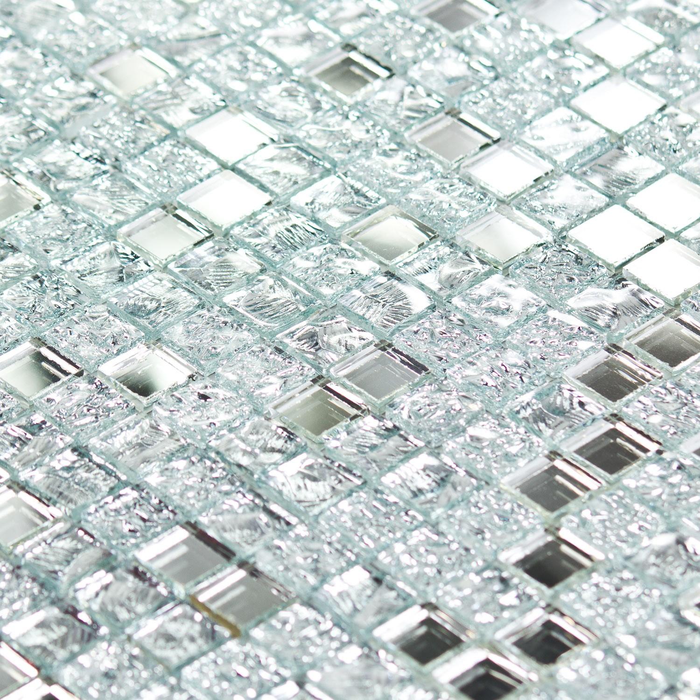 Mosaïque en verre argent