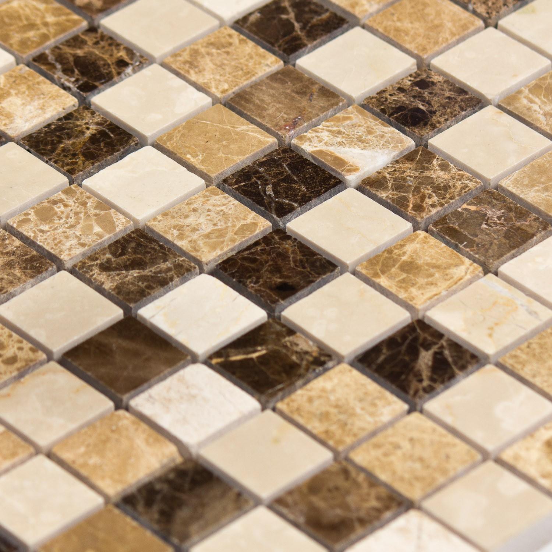 Mosaïque marbre brun