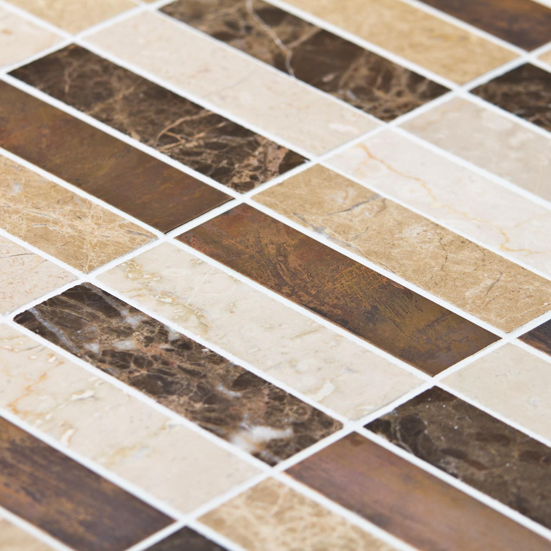 Mosaïque Marbre Mixcolor Emparador Lamelles