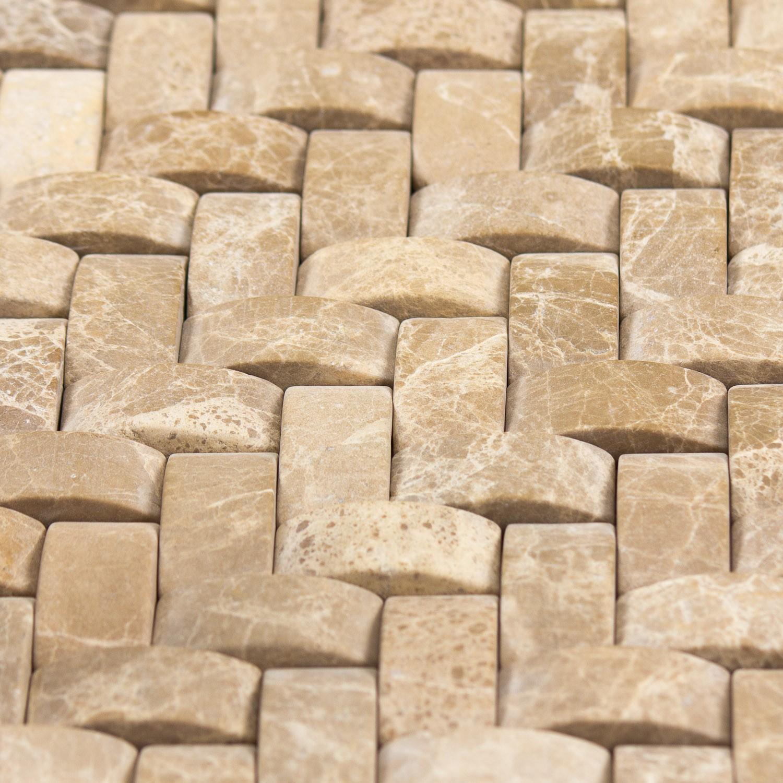 Mosaïque marbre beige  sans joint