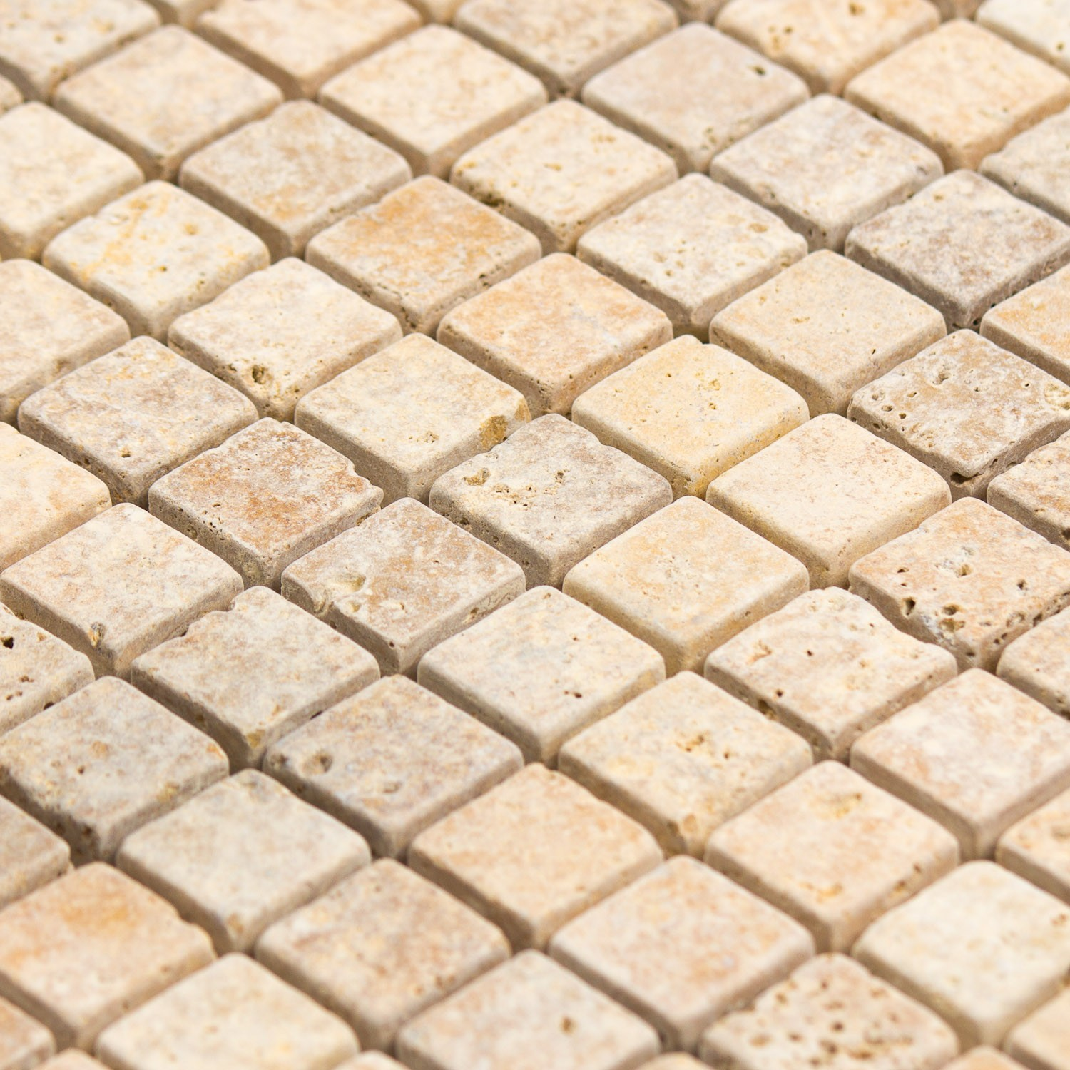 Mosaïque travertin jaune