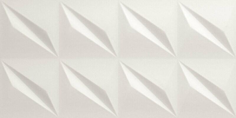 Dallage céramique Carina White 3D Glow