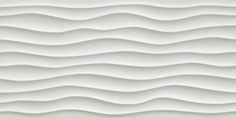 Dallage céramique Carina White 3D Vague