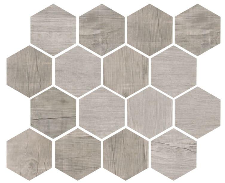 Mosaïque céramique blanche Grus wood Bianco