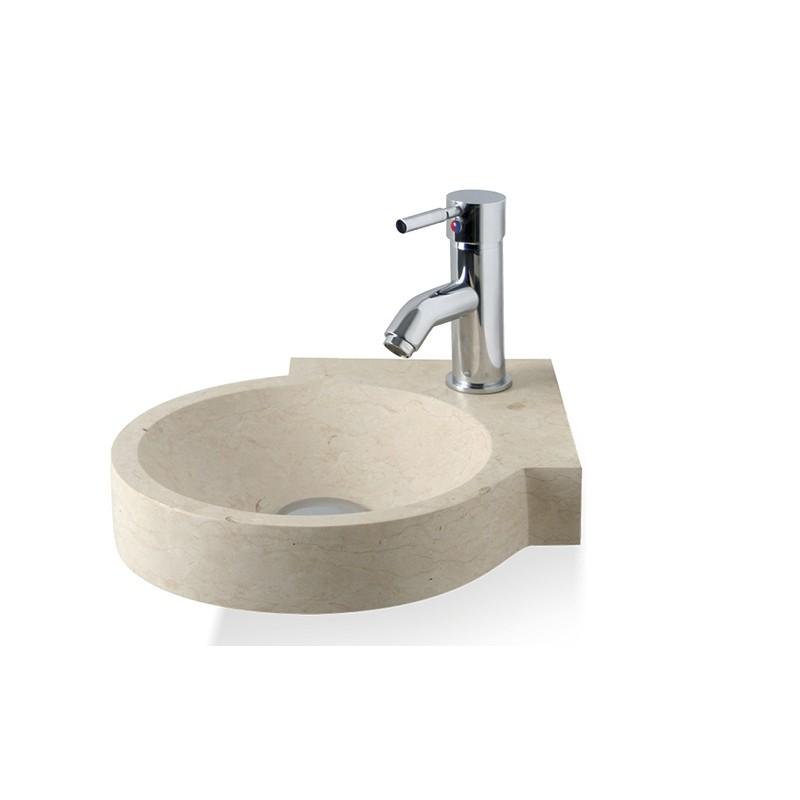 Vasque à poser ronde - Pierre Naturelle Blanche