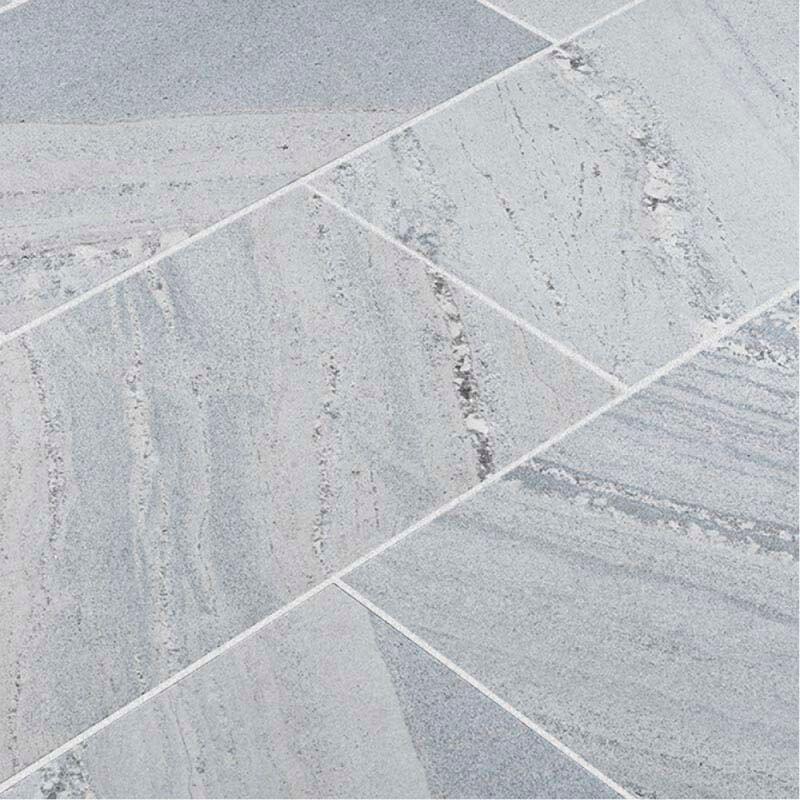 Dallage pierre naturelle Montana White pour terrasse