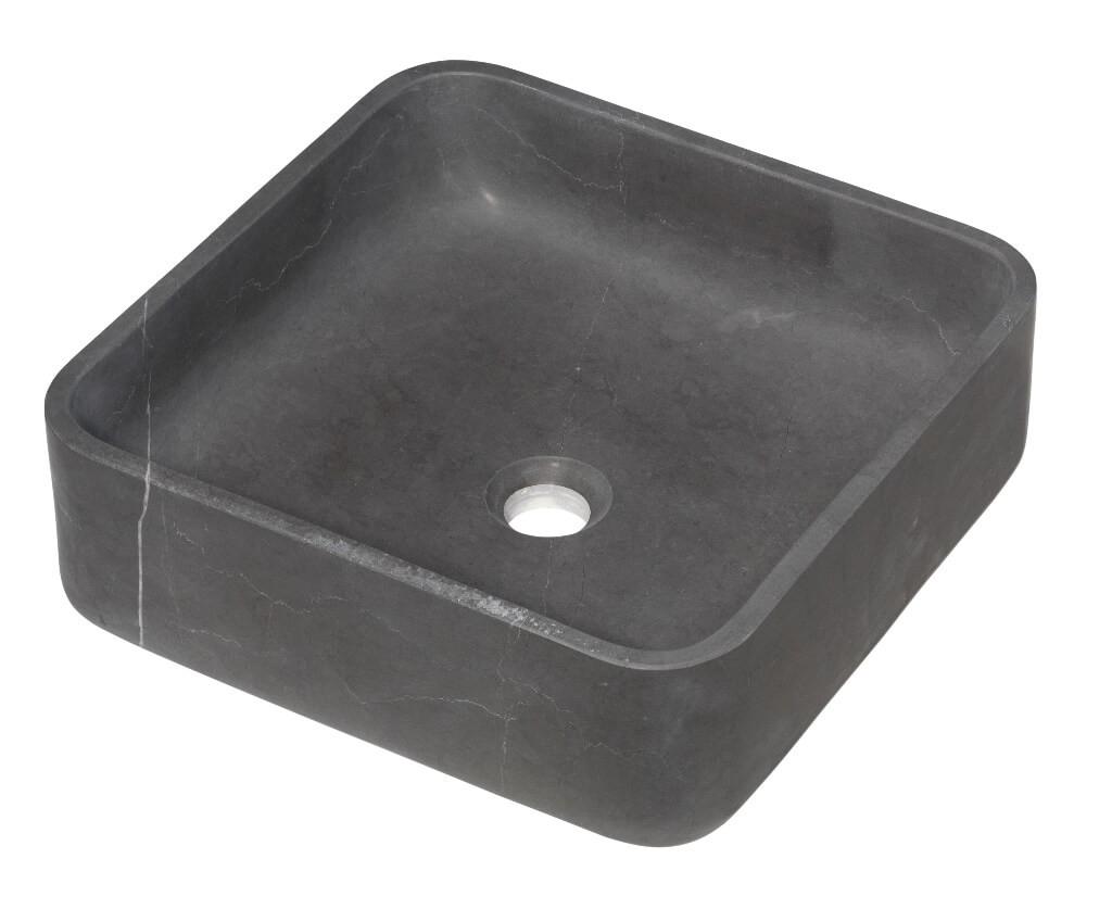 Vasque carrée à poser - Marbre Gris