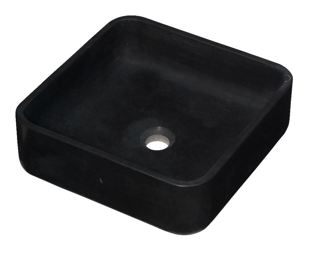 Vasque carrée - Marbre Noir