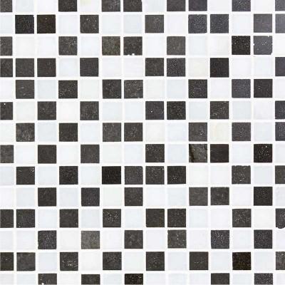 Mosaïque marbre noir et blanc