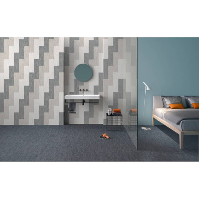 Céramique effet tissus Lyra Woven Grey