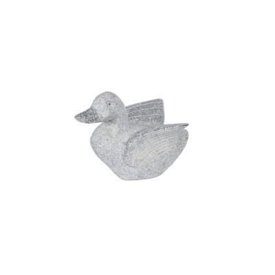 Sculpture granit gris canard envol