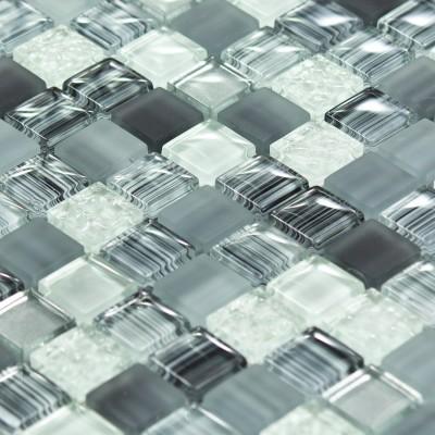 Mosaïque en verre grise bleue