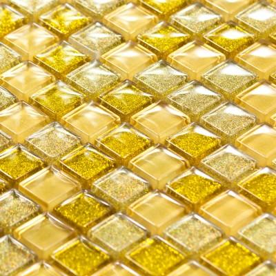 Mosaïque Pâte de Verre Luxe Gold