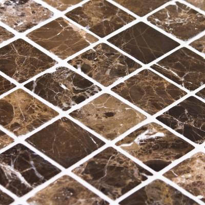 Mosaïque pierre marron