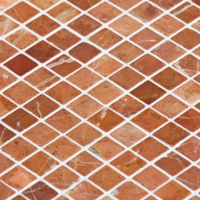 Mosaïque Marbre Rouge Alicante