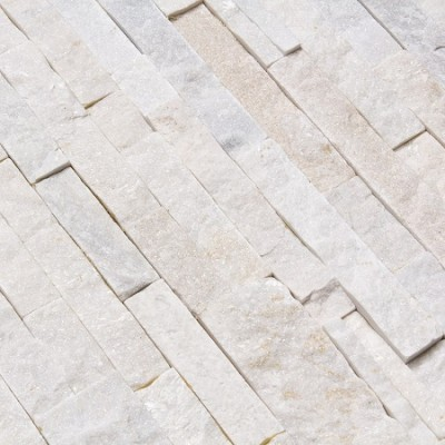 Parement Pierre Quartzite Blanc