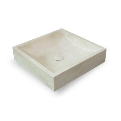 Vasque carrée Pierre Naturelle Blanche
