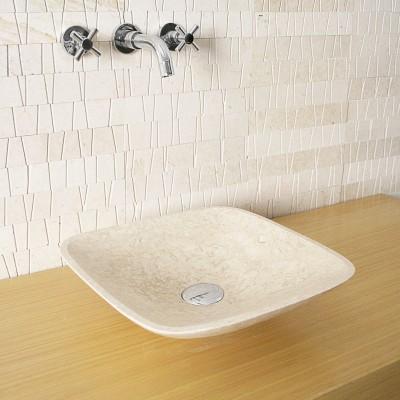 Vasque carrée - Pierre Naturelle blanche