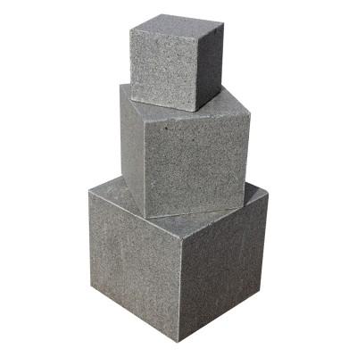 Cube en Granit gris foncé 40x40x40 cm