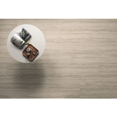 Dallage effet bois Grus Wood Bianco céramique