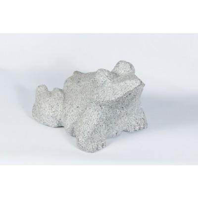 Sculpture grenouille granit gris