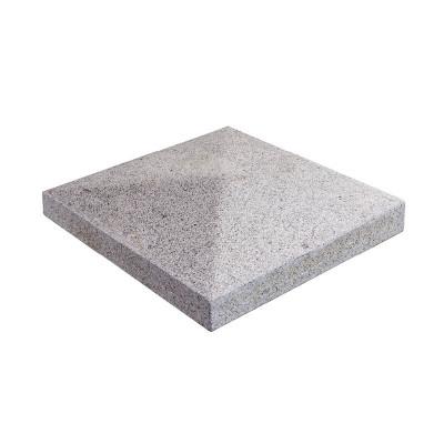 Chapeau de pilier granit gris muret extérieur