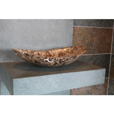 Vasque Ovale Marbre Brun Zara