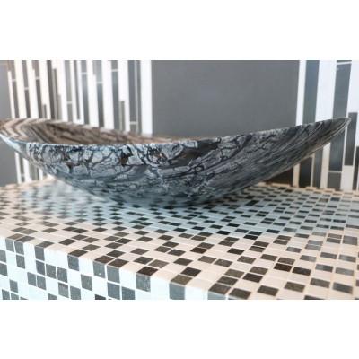 Vasque salle de bain pierre naturelle - Marbre gris