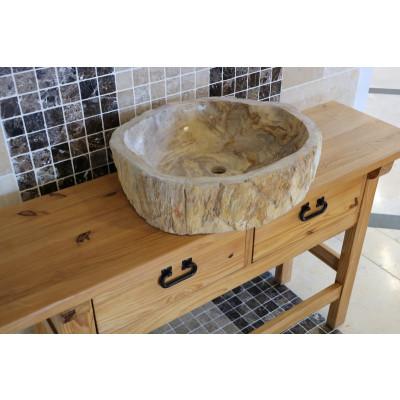 Vasque bois fossilisée