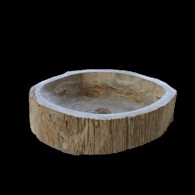Vasque ronde en bois fossilisé 7