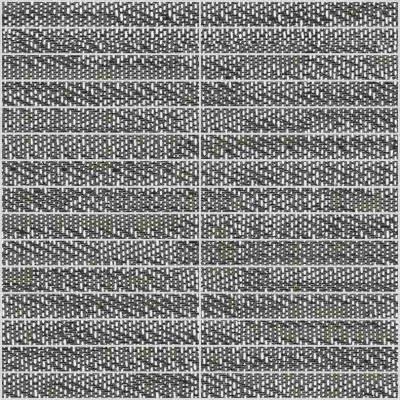 Mosaïque céramique effet tissus grise