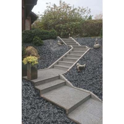 Marche/ margelle granit gris Stavanger pierre naturelle
