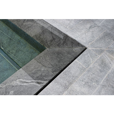 Marche/margelle granit gris Albiana
