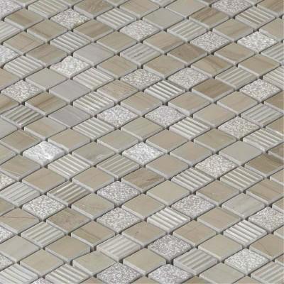 Mosaïque pierre naturelle beige