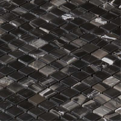 Mosaïque salle de bain marbre noir