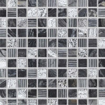 Mosaïque grise en pierre naturelle
