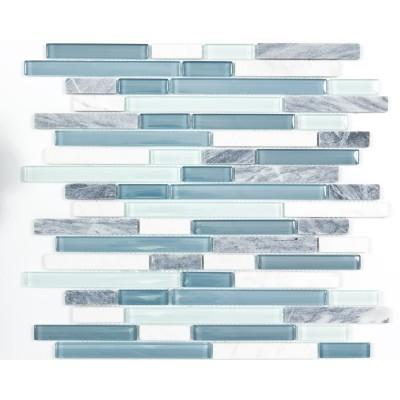 mosaique marbre et verre Ocean Line