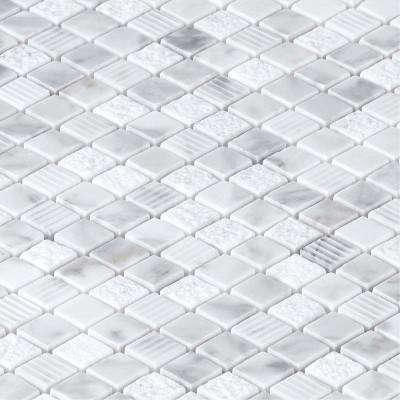 Mosaïque marbre blanc