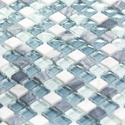 Mosaïque Pierre et verre Ocean Color
