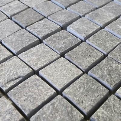 Mosaïque Quartzite grise platinium
