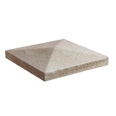 Chapeau de pilier pointe granit jaune