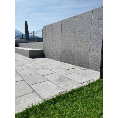 Marche/margelle pierre naturelle grise Granit